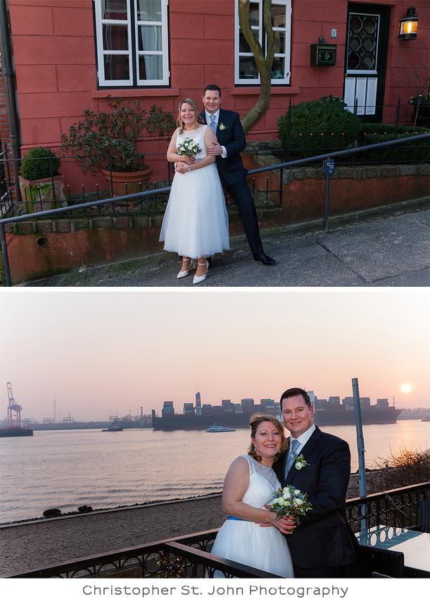 Hochzeitsfotografie in Hamburg am Elbstrand