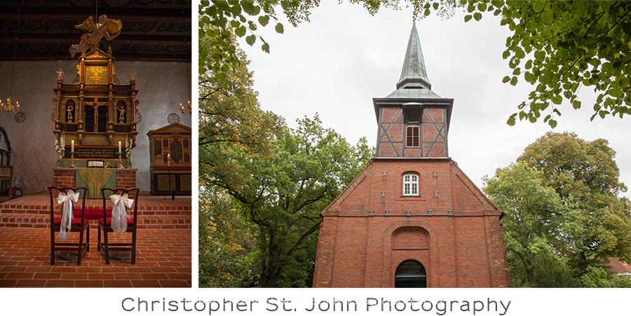 Hochzeitsfotograf Hamburg, Wohldorfer Mühle, Kirche Bergstedt