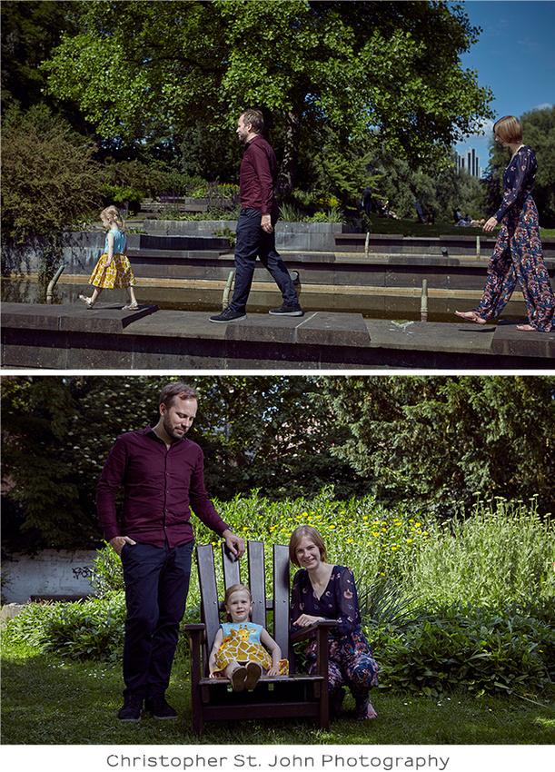 Familienfotos im Park in Hamburg
